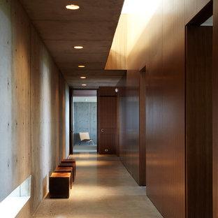 Idéer för en industriell hall, med betonggolv