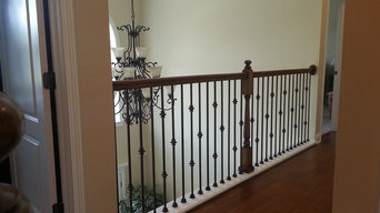 Installed Wrought Iron Balusters