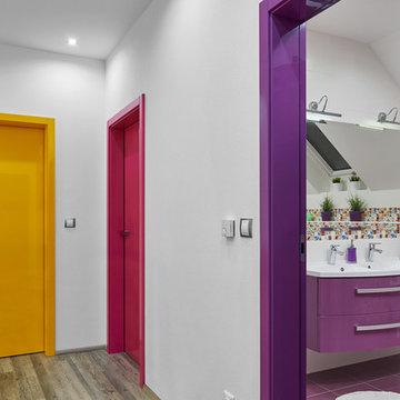Interior doors in beautiful bright colors