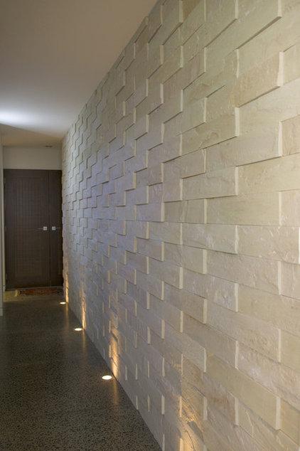 Modern Hall by Island Stone