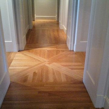 Job Finished Custom Hardwood Floor Design
