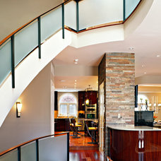 Transitional Staircase by Abitare Design Studio, LLC
