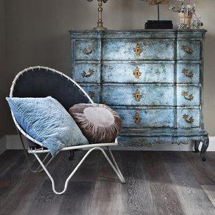 Hallway Mid Sized Shabby Chic Style Medium Tone Wood Floor Idea In