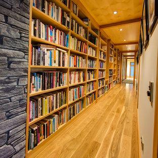 Hallway - rustic hallway idea in Christchurch
