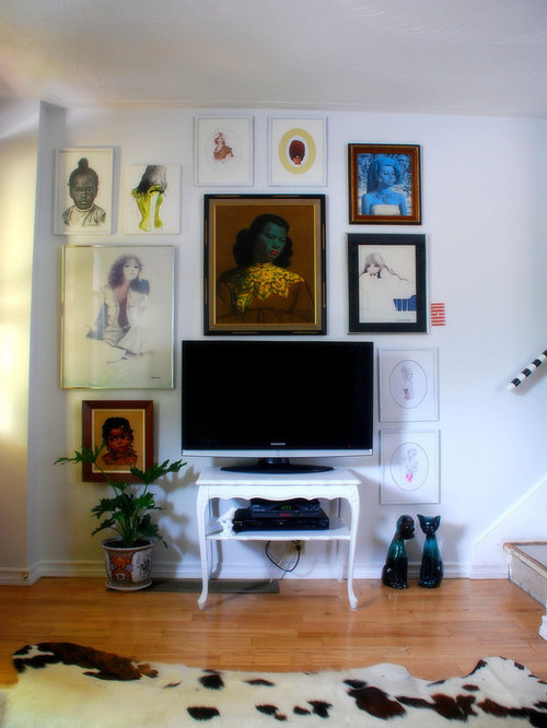 eclectic hallway idea in toronto - Flat Screen Tv Living Room Ideas
