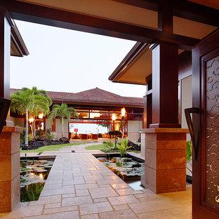 Idéer för att renovera en tropisk hall