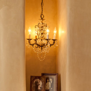 Example of a mid-sized southwest hallway design in Albuquerque with beige walls