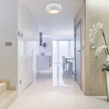 Layers, 50900LEDd, Small Flush Mount, LED, White Finish With White Acrylic Shade