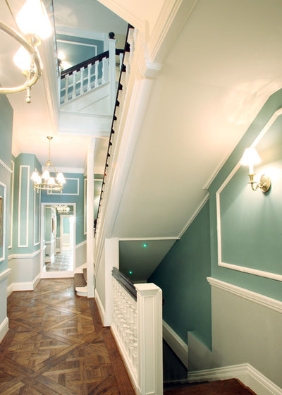 Contemporary Hallway & Landing by Alex Maguire Photography