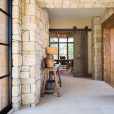 Rustic Hall by Cornerstone Architects