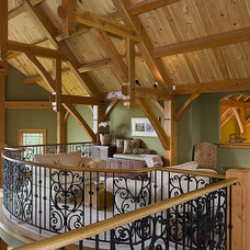 Mediterranean Hall by Woodhouse Post & Beam Homes