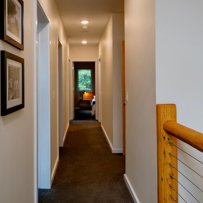 Inspiration for a rustic hallway remodel in Other