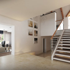 Contemporary Hall by Lompier Interior Group
