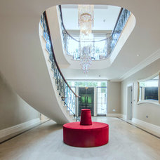 Contemporary Hall by Alexander James Interiors