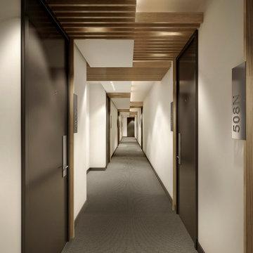 Luxury NYC Condominium Building Hallway