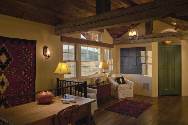 Rustic Hall by Lynne Barton Bier - Home on the Range Interiors
