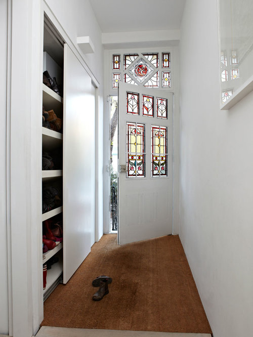 Example Of A Trendy Hallway Design In London