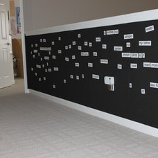Contemporary Hall magnetic wall (kids hallway)