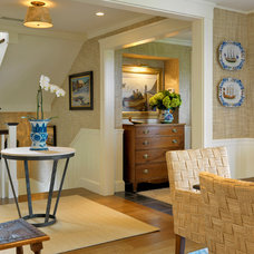 Beach Style Hall by Anthony Catalfano Interiors Inc.