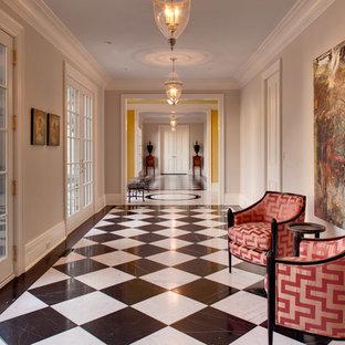 Hallway - traditional multicolored floor hallway idea in Milwaukee