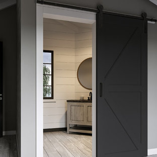 Inspiration for a contemporary hallway remodel in Tampa