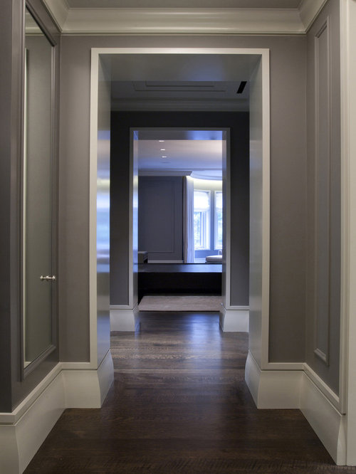 Gray hallway home design ideas pictures remodel and decor for Type of paint for trim