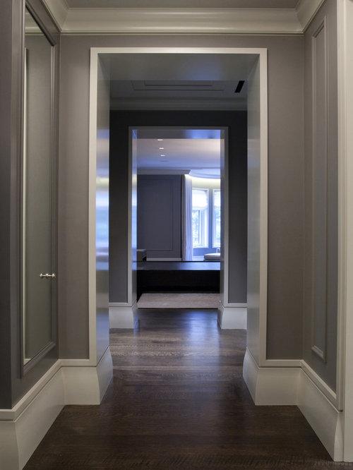 Gray Hallway Houzz