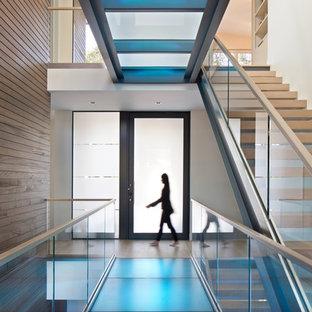 Matching Interior Bridges Colorchangeable Glass floor