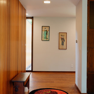 Inspiration for a midcentury hallway in Milwaukee.