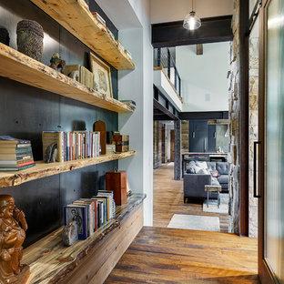 Hallway - mid-sized rustic hallway idea in Denver