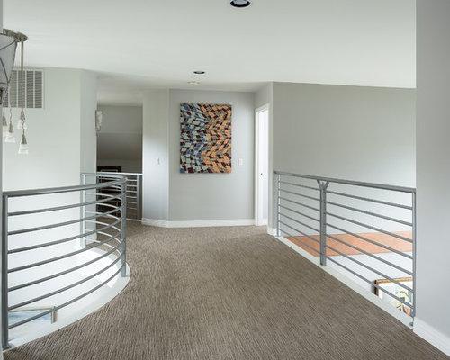 mid century flur mit teppichboden ideen design bilder. Black Bedroom Furniture Sets. Home Design Ideas