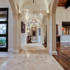 Mediterranean Hall by MICHAEL MOLTHAN LUXURY HOMES