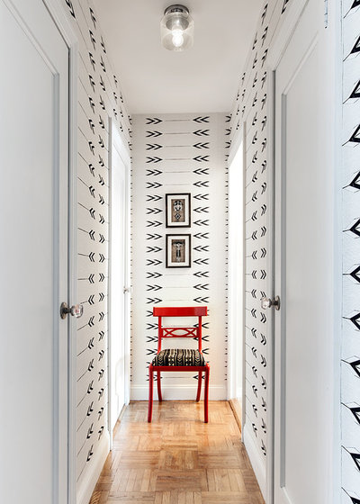 Transitional Hallway & Landing by Allison Lind Interiors + RE:LOCATE