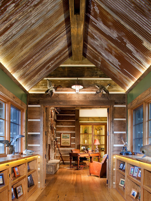 Rustic tin ceiling home design ideas pictures remodel for Old barn tin ideas