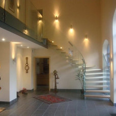 Modern Hall by Siller Stairs
