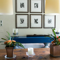 Transitional Hall by Robin McGarry Interior Design