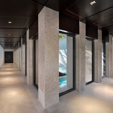 Contemporary Hall by Grand Woodworking