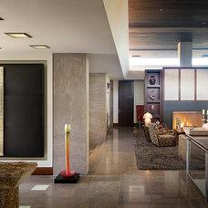 Contemporary Hall by Harte Brownlee & Associates Interior Design