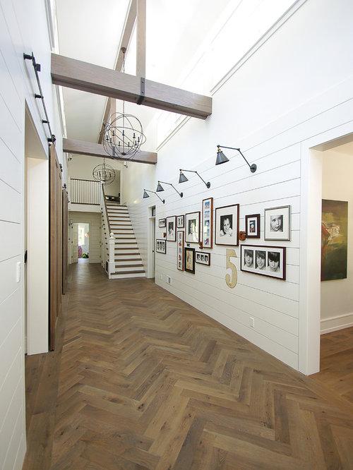 landhausstil flur ideen f r die flurgestaltung houzz. Black Bedroom Furniture Sets. Home Design Ideas