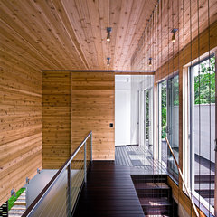 modern hall by Bates Masi Architects LLC