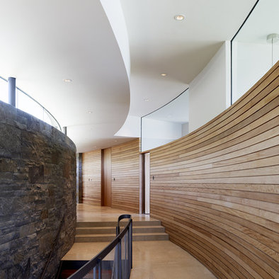 Curved Wood Wall