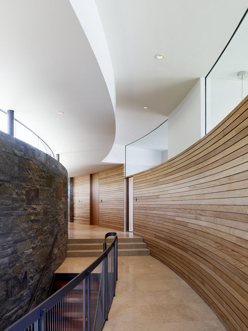 Curved wall design ideas remodel pictures houzz - Wall designs with wood ...