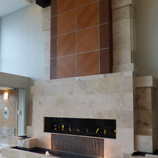Modern Hall by The Fireplace Specialist