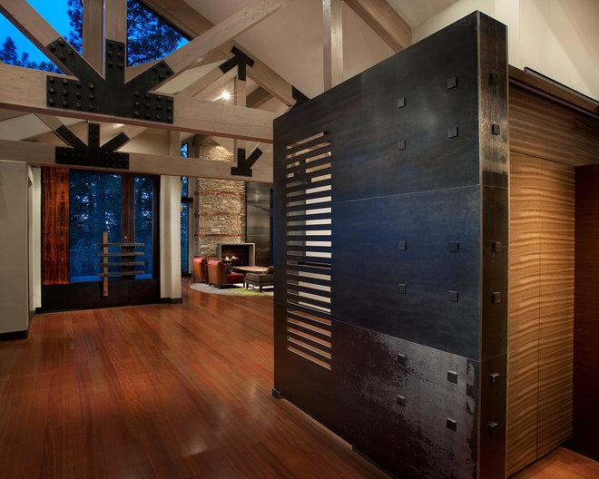 Contemporary Hall by IMI Design, LLC