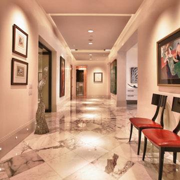 Modern Residence with White Marble Tile | Destin, FL