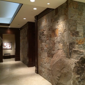 Montana Moss Natural Stone accented with Walnut
