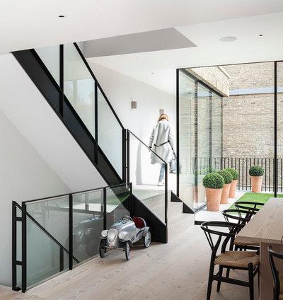 Modern Hallway & Landing by Jo Cowen Architects