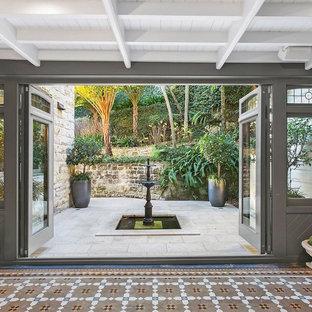 Design ideas for a midcentury hallway in Sydney.