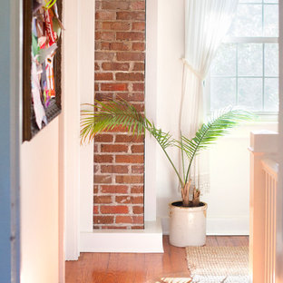 Inspiration for a midcentury hallway in Charleston.