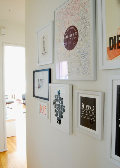 Eclectic Hallway & Landing by Corynne Pless